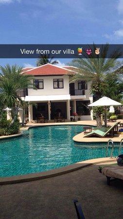 Dreams Villa Resort: View from out villa was the bar/restaurant