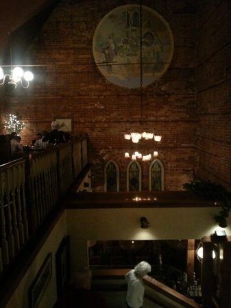 Freemason Abbey Restaurant: from the stairs