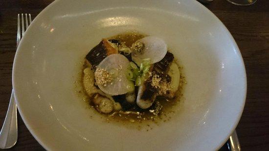 Cutler & Co: Main-Rock flathead, seaweed, grilled octopus, shitake & eggplant