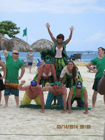 Sandals Royal Caribbean Resort and Private Island: Having fun with the entertainment crew
