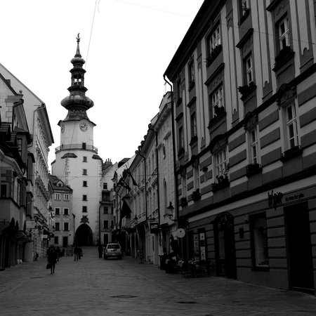 St. Michael's Tower & Street: View of St. Michael's Tower in Bratislava