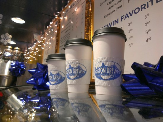 Grab a small, medium, or stanley size cup of Boston's best coffee!