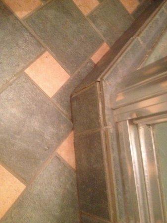 Sommet des Neiges: Dirty floor tile.