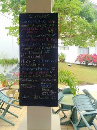 Le Papillion Cafe Grenada: Sweets