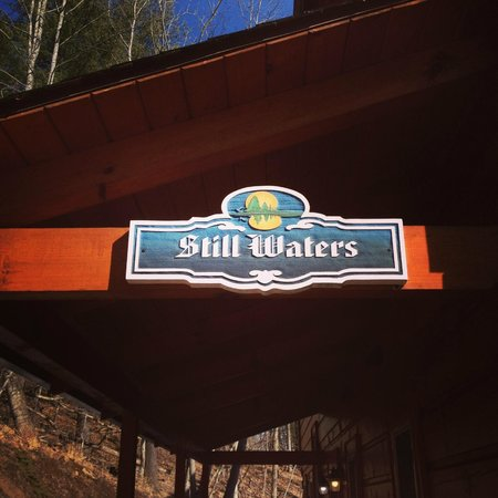 Still Waters - Watauga Lake Cabins: A very welcome sight after hiking up the hill.