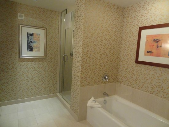 Omni Orlando Resort at Championsgate: Room featured a separate bath/shower.