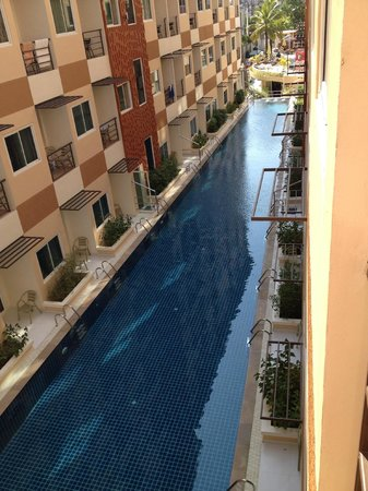 Andatel Grande Patong Phuket Hotel : view of long pool from balcony....