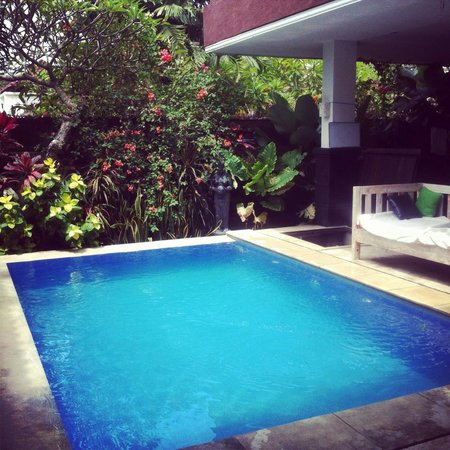 Canggu Surf Hostel: Pool one in the sun. Perfect place to chill and cool down when it's too hot!