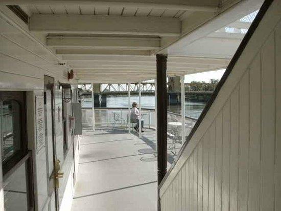 2nd deck on the Delta King - toward Pilot House Restaurant