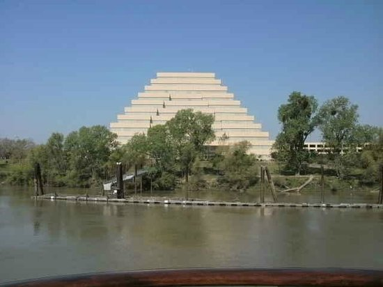 Across from our room on the Delta King (Pyramid!)