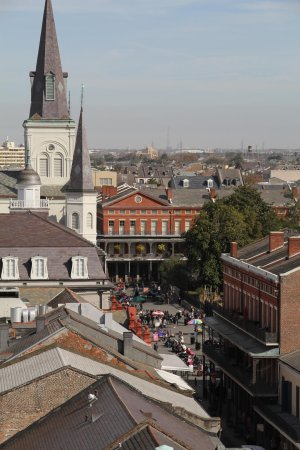 Omni Royal Orleans: View of Jackson Square from roof (please  rotate your head 90 degrees to see this one - sorry)
