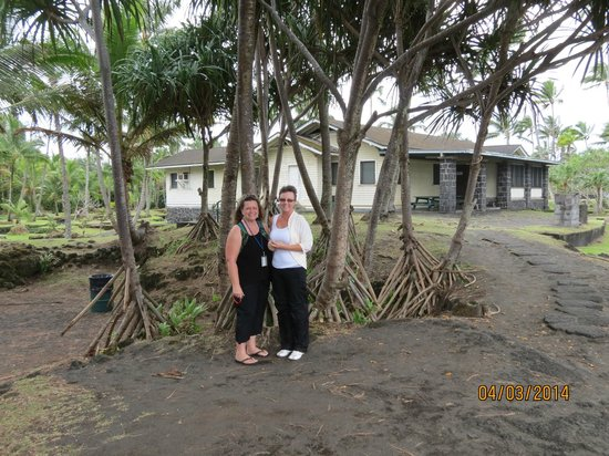 Marylou's Big Island Guided Tours - Private Tours: Marylou on the left with Kath near Hilo