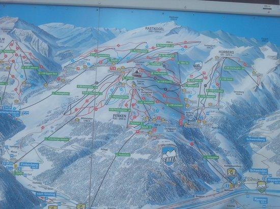 Mayrhofner Bergbahnen: карта склонов