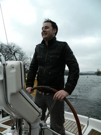 Bowness-on-Windermere, UK: An excited Allen