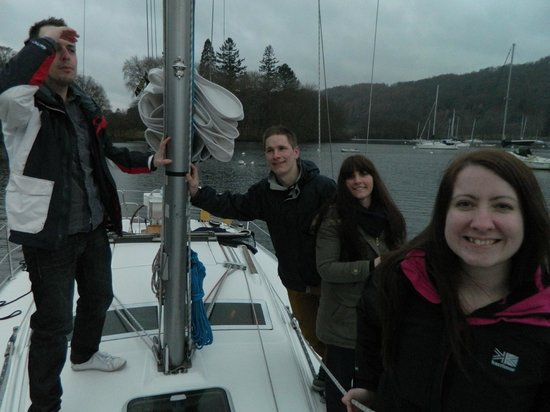 Bowness-on-Windermere, UK: Pretending we do this all the time.