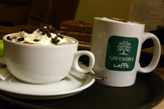 Greentree Café: Coffee and cakes at Greentree Caffe