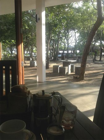 Nilaveli Beach Hotel: View from the dining area