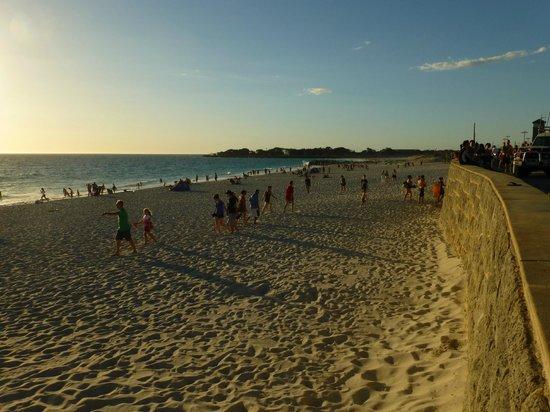 Ocean View Motel: Der Strand ca. 2 km nördlich vom Motel