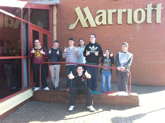 Swansea Marriott Hotel: Students having a great time !