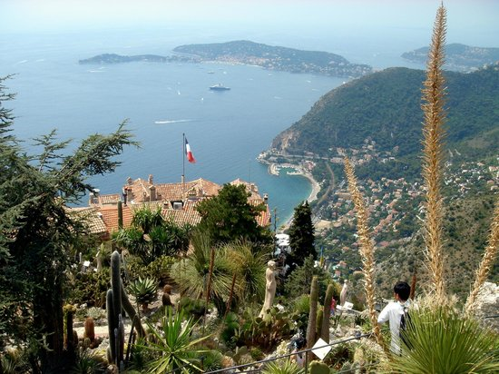 Vieux Eze: view from Eze's Exotic Garden