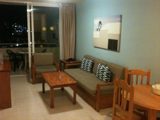 Playa del Sol -  Adults Only : living area and balcony