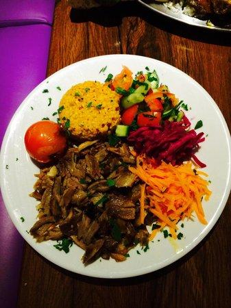 Turquoise Newcastle: Lamb shawarma