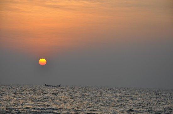 Les 3 Elephants Cherai Beach: Sonnenuntergang, Cherai Beach