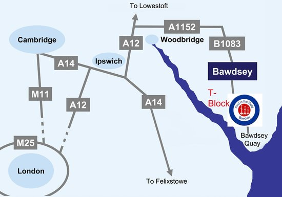 Bawdsey, UK: Location Map
