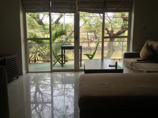 Karavansara Retreat & Residences: From 1st floor apartment living room