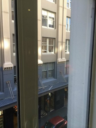 Hotel DeBrett : Double glazed windows looking out on to the side street