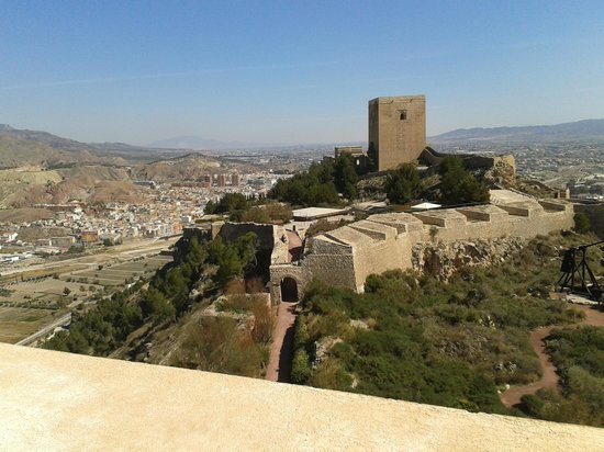 Castle of Lorca: View from fortress tower
