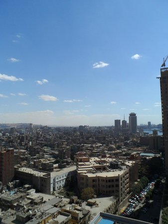 Conrad Cairo: View from our room's balcony