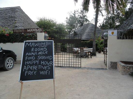 Mawimbi Lodge: ingresso