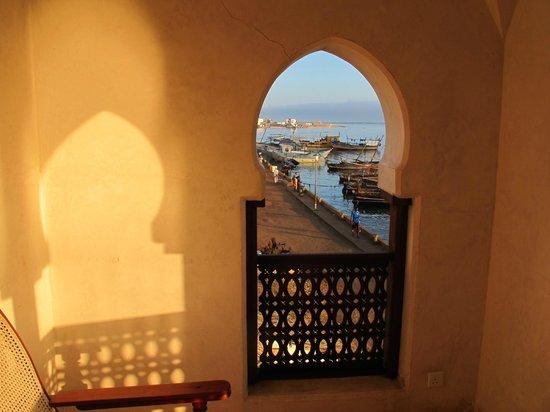 Lamu House Hotel: vue de la chambre au lever du soleil