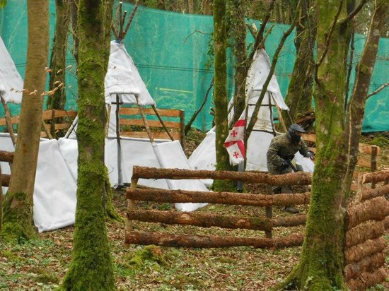 Clare Paintball - Deerpark Outdoor Centre: the Indian village