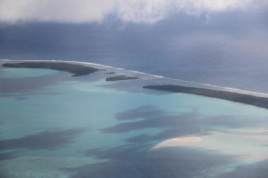 Aitutaki Lagoon Resort & Spa: Magical view from the plane