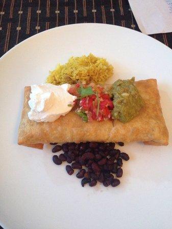The Mexican : beef chimichanga :) really good!!!