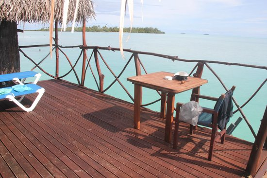 Aitutaki Lagoon Resort & Spa : Bungalow balcony