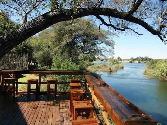 Camp Nkwazi: View from Dining and Bar area, rooms are similar