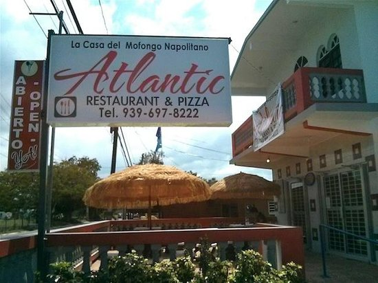 Atlantic Restaurant & Pizza: sign in the front