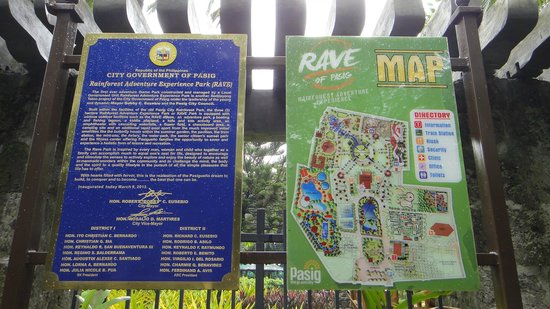 Rainforest Park: Map of the Park