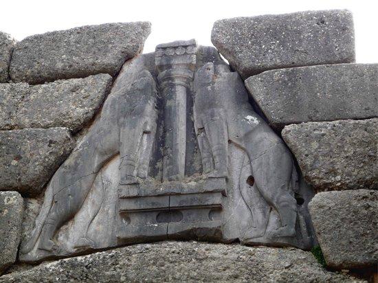La porta dei leoni foto di ancient mycenae mycenae - La porta dei leoni a micene ...