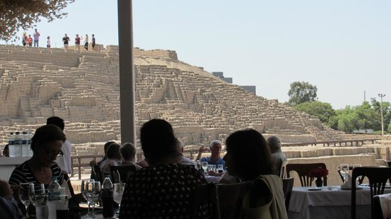 Huaca Pucllana: View from the Restaurant's Dining Terrace
