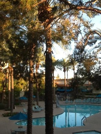 Hilton Scottsdale Resort & Villas: sunrise on the pool deck
