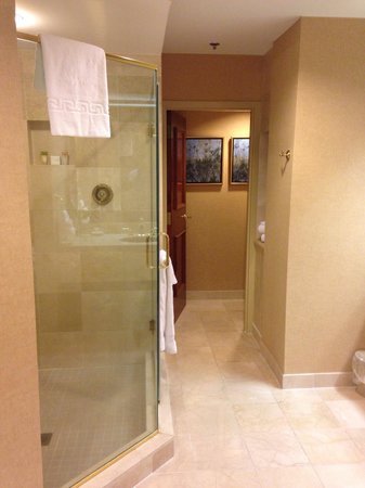 Casino at Harrah's Gulf Coast: Amazing bathroom with a walk in jacuzzi..