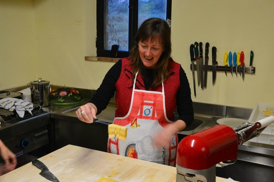 Agriturismo le Caggiole : Making Pasta