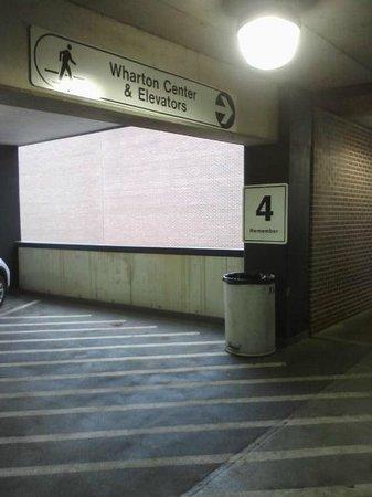 Wharton Center: Garage (Remember your spot with a photo)
