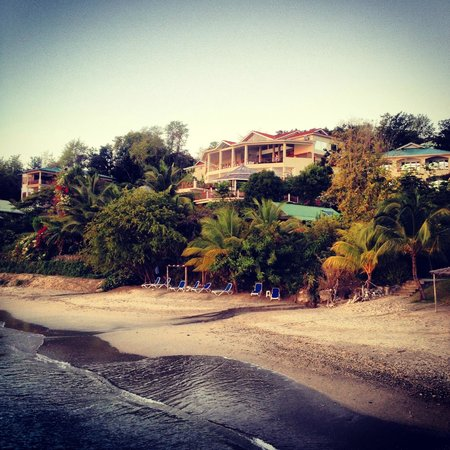 Calabash Cove Resort and Spa : View from jetty looking back at hotel