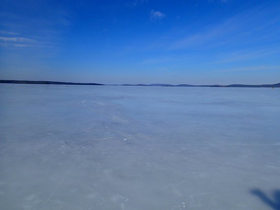 Downeast Lakes Land Trust: West Grand Lake ice