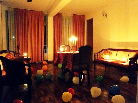 Hotel C 7: I was able to give a suprise Candle light dinner to my wife